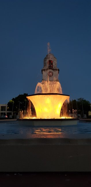 Seymour Square at night