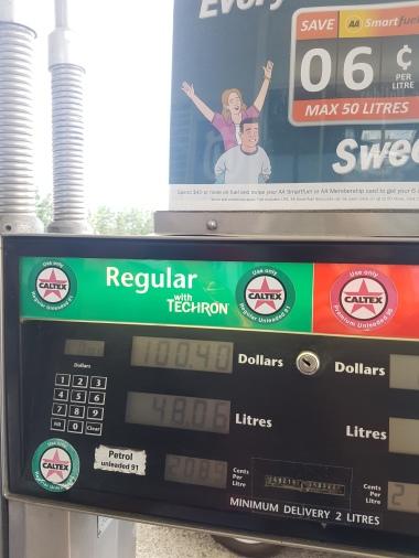 Fuel (Over $2/litre)