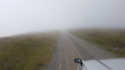 Driving into the clouds
