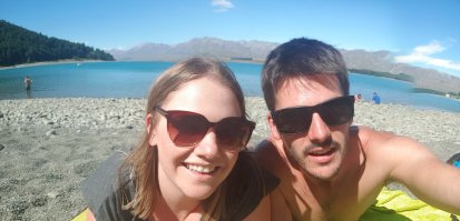 Selfies on the lake