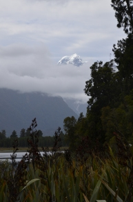 Mount Tasman peeks through