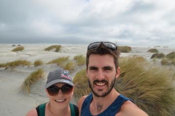Wind picking up - selfie time