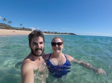 Swimming selfies