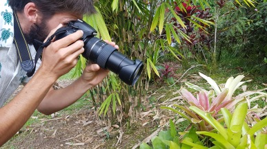 Kadin taking a photo of the gecko