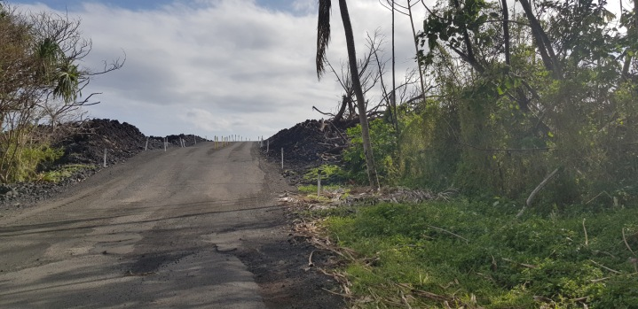 Road up onto the lava
