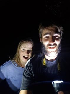 Flash light selfie