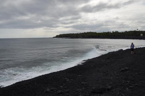 New black sand beach