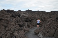 In the lava rock