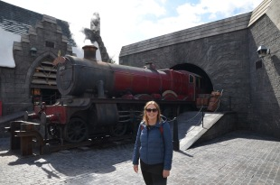 Gemma ready to catch the Hogwart's Express