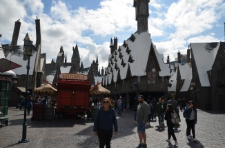 Gemma milling about in Diagon Alley