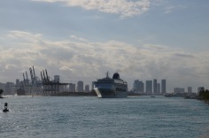 Last cruise ship on the move