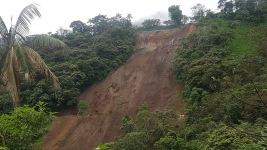 Massive landslide