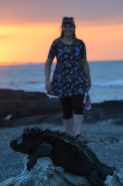 Gemma and the marine iguana