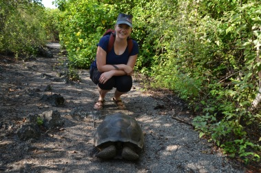 Gemma with the Galapagos Tortoise