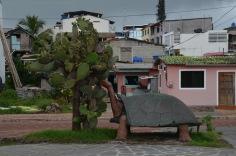 Happy tortoise sculpture