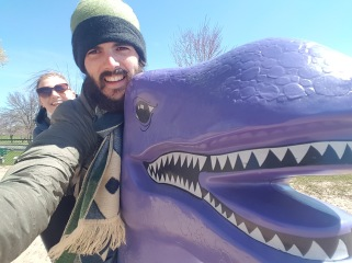 Dinosaur selfie (big kids)