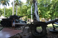 Cuban Tank and USA wreckage