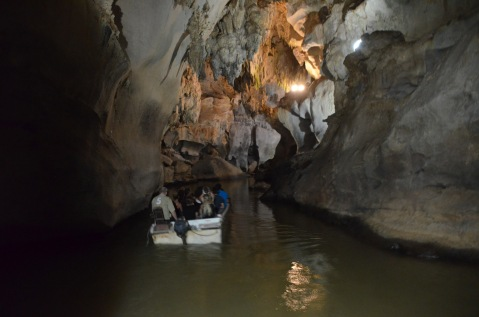 Boat ride through the cave
