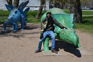 Kadin and his dinosaur friends
