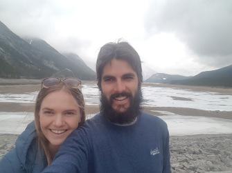Frozen lake selfie