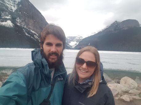 Frozen Lake Louise Selfie