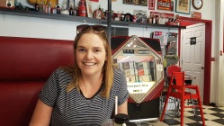 Having lunch in the town diner