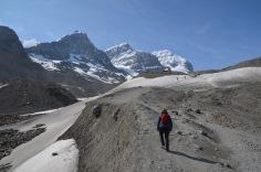 Gemma trekking up
