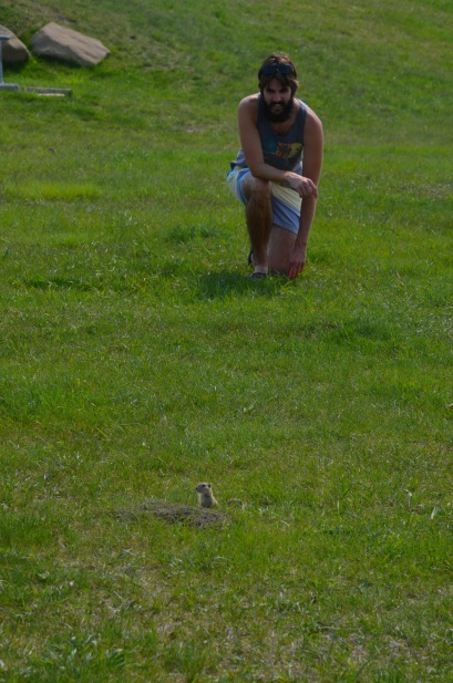 Kadin and his gopher friend