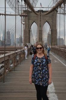 Gemma on Brooklyn Bridge