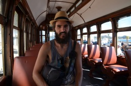 Kadin in the empty tram
