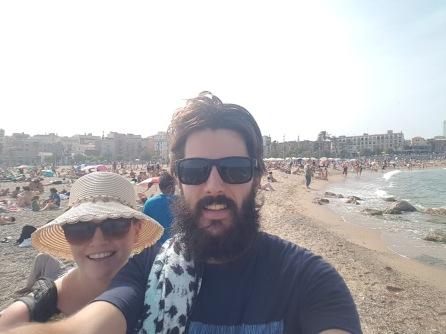 Crowded Beach Selfie