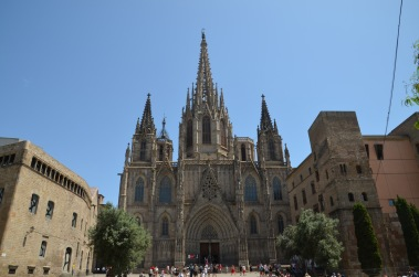 Cathedral with tourists