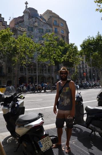 Outside Gaudi's Casa