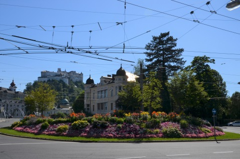 Pretty garden roundabout