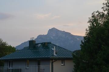 Partial mountain views