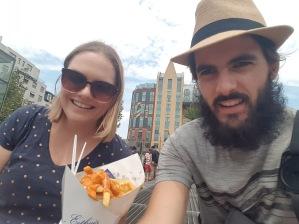 Cone fries Selfie