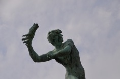 Disturbing statue