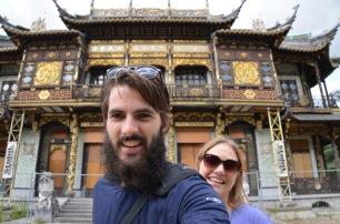 Temple selfie