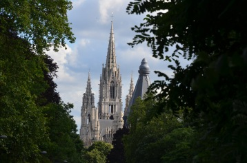 Notre-Dame of Brussels from the park