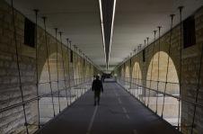 New pedestrian path underneath
