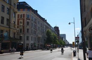 Walking downtown Stockholm
