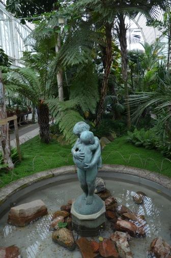 Hugging statue
