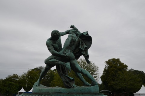 Men fighting over a woman