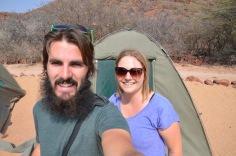 Camping selfie
