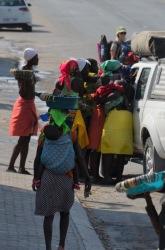 Locals selling crafts