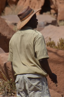 Guide with Kudu leather hat
