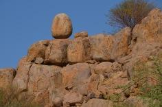 Precariously placed rocks