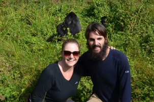 Photo with the gorillas