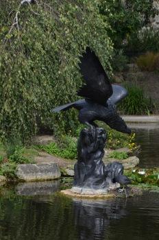 Lake - Bird Statue