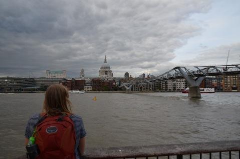Looking across the Thames by Millennium Bridge